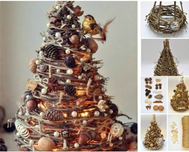 DIY Christmas Tree from Tree Branches