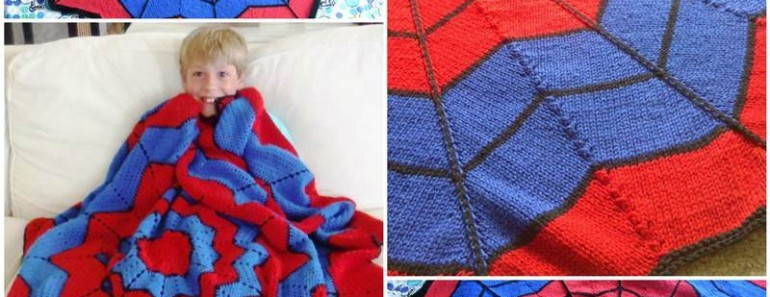 Knit Spiderman Blanket Pattern (Free)