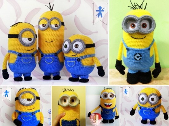 Crochet Patterns Minions Despicable Me : 10+ Super Cute Crochet Minion Patterns BeesDIY.com