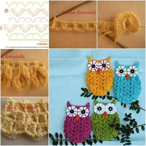 Crochet Crocodile Stitch Owl Pattern