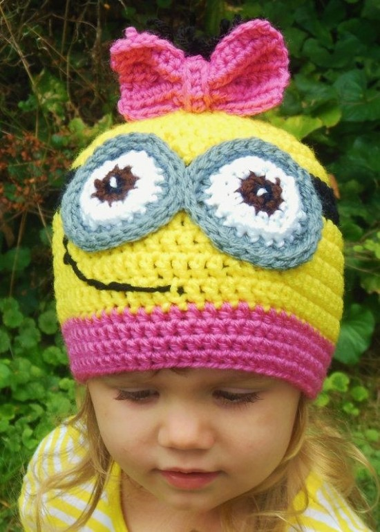 Crochet Baby Minion Hat Pattern : 10+ Super Cute Crochet Minion Patterns BeesDIY.com