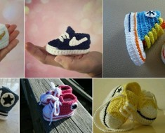 Nike Inspired Baby Sneakers Crochet Pattern