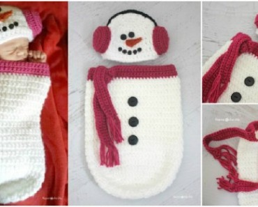 Crochet-Snowman-Ear-Muff-Hat-and-Cocoon