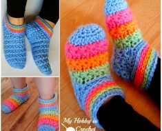 Crochet-Starlight-Slippers FREE pattern