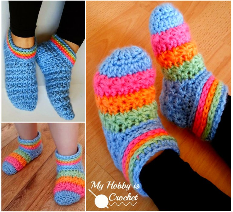 Crochet Starlight Slippers (FREE Patterns)