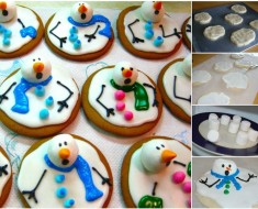 DIY-Adorable-Melted-Snowman-Cookies Recipe