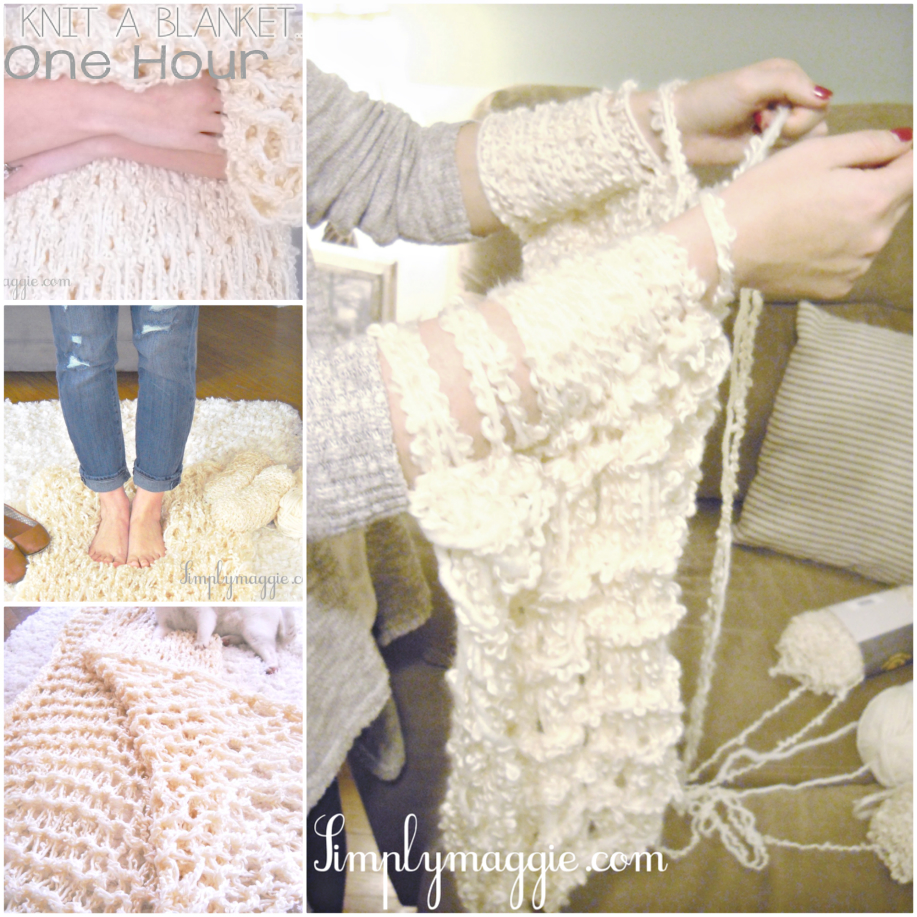 Knitting A Blanket With Arms : How to diy arm knit blanket in minutes beesdiy