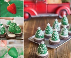 DIY-Chocolate-Covered-Strawberry-Christmas-Trees recipe