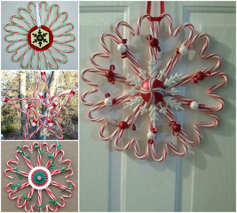 Diy Christmas Candy Cane Wreath Beesdiy