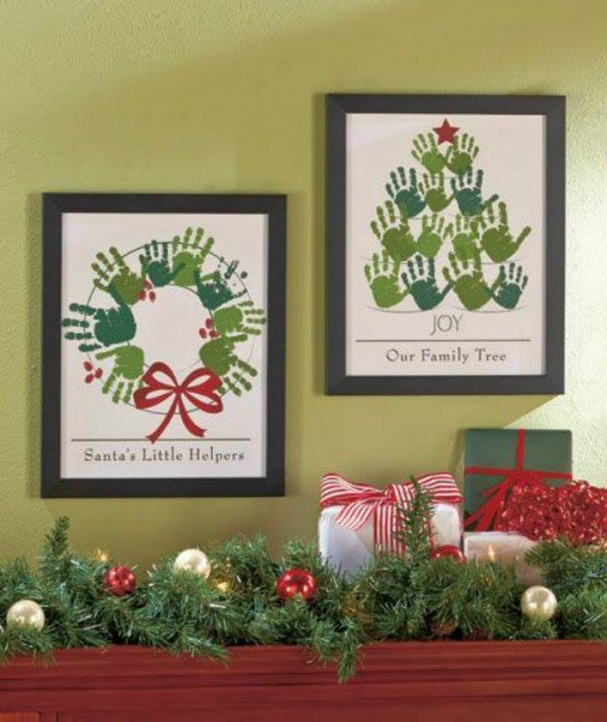 DIY Christmas HandPrint and FootPrint Art