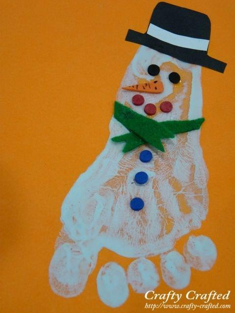 Cute And Fun Christmas Handprint And Footprint Art