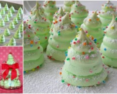 DIY Christmas-Tree-Meringue-Cookies