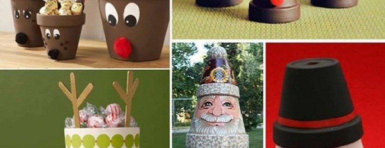 DIY Clay Pot Christmas Crafts