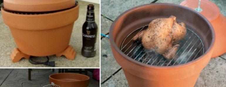 How to DIY Smoker with Clay Pot