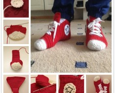 Crochet Converse Slippers FREE apattern