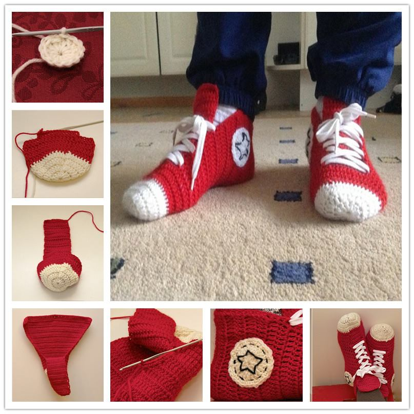 Crochet Converse Slippers Pattern Free Beesdiycom