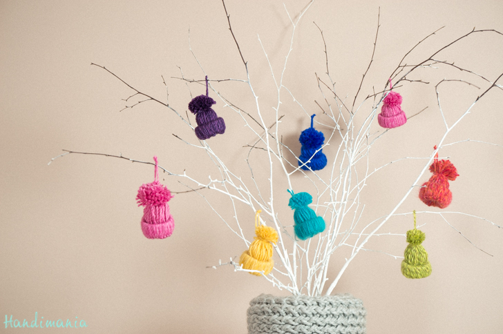 DIY-Cute-Yarn- Hat-Ornaments 3