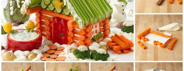 DIY Edible Veggie House — Creative Christmas idea
