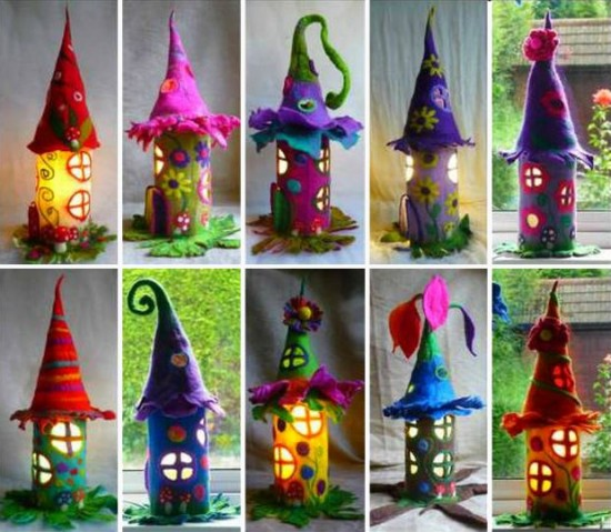 DIY Fantastic Paper Roll Fairy House3