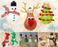 DIY Light Bulb Christmas Ornaments