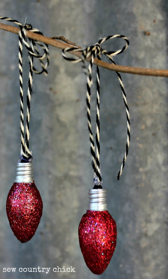 DIY Light Bulb Ornaments for Christmas