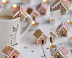 DIY Mini Gingerbread House Mug Toppers