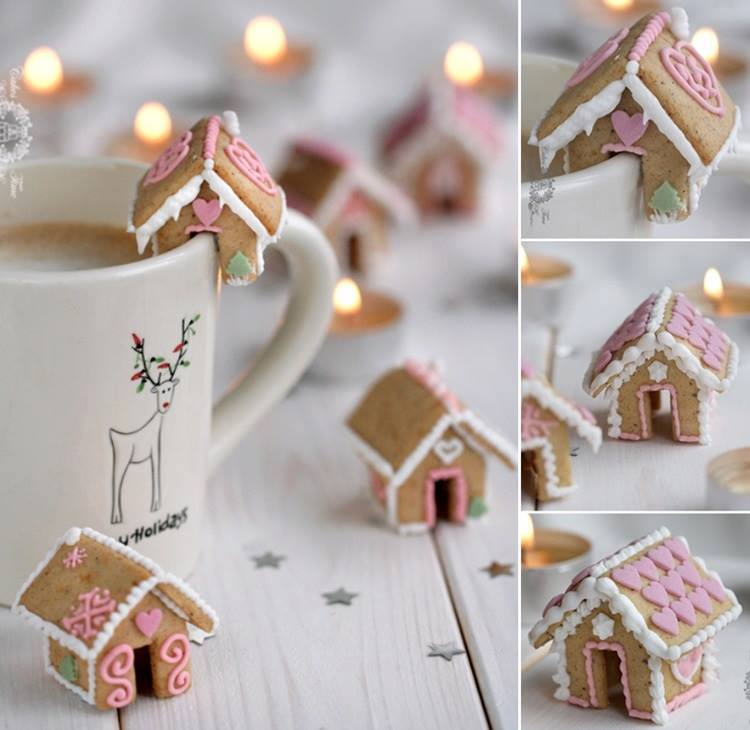 DIY Mini Gingerbread Houses - Christmas Idea