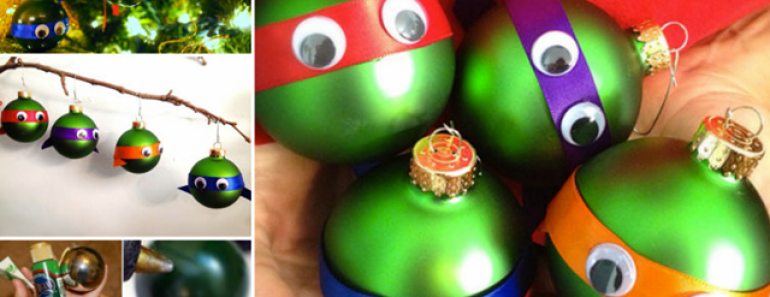 DIY Ninja Turtle Ornaments — Christmas Idea