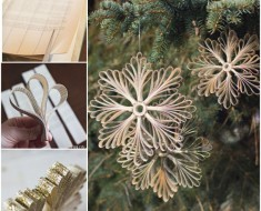 DIY Paper Book Snowflake Christmas Ornament