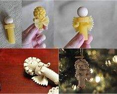 DIY Pasta Angel Christmas Ornaments