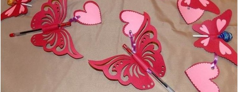 DIY Butterfly Postcards  (FREE Template)
