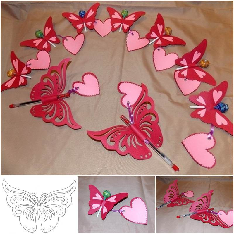 DIY Butterfly Postcards from Template