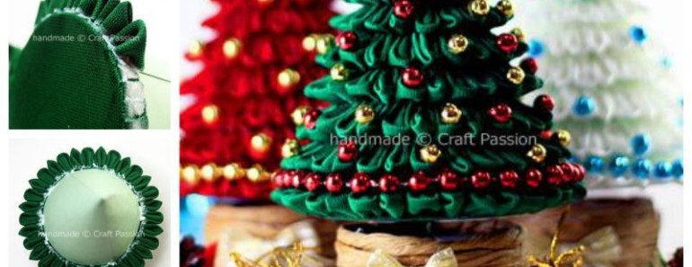 Ribbon Kanzashi Christmas Tree DIY Tutorial