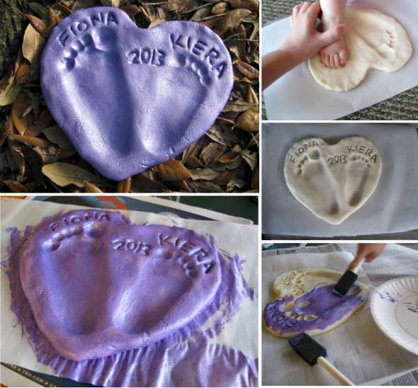 DIY Salt Dough Footprint Heart Tutorial