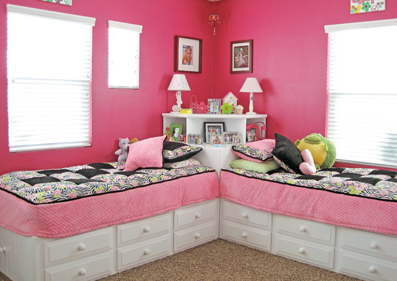 Space Saving --DIY Corner Unit for Twin Storage Bed