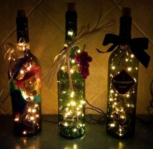 Stunning Wine Bottle Light DIY Tutorial | BeesDIY.com
