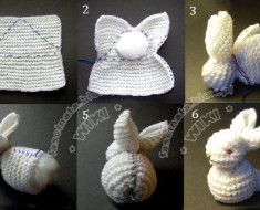 Cute DIY Bunny from a Square