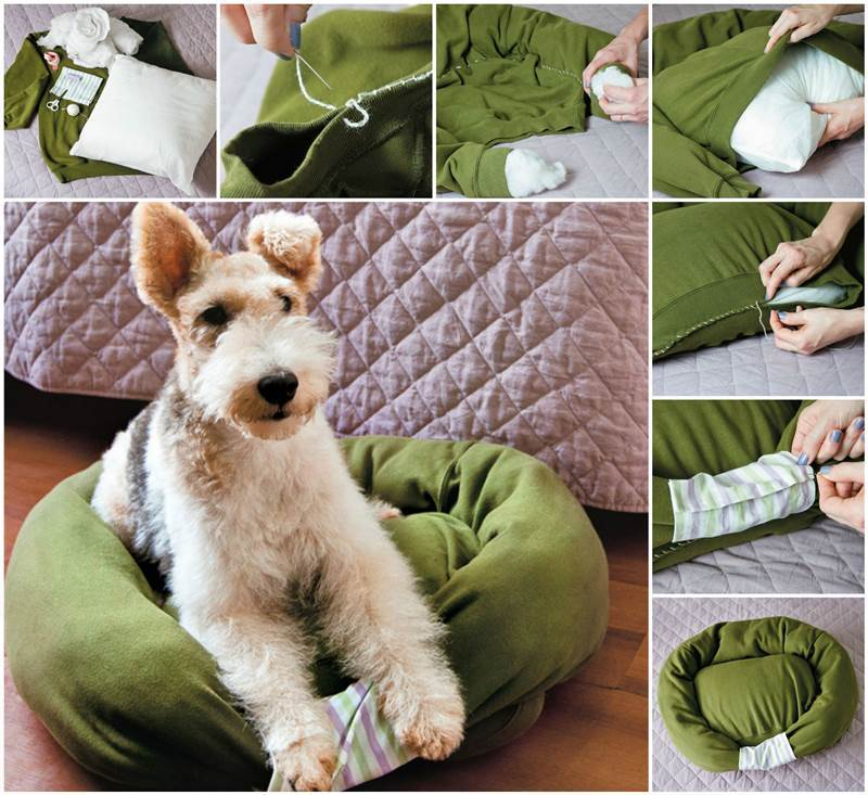 How to DIY Pet Bed from Old Sweater