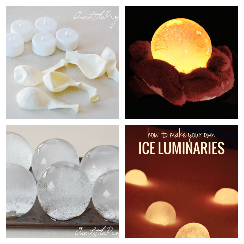 DIY Ice lanterns - Winter Project