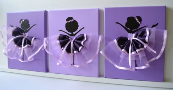 FlorasShop — Ballerina Tutu Canvas Wall Art
