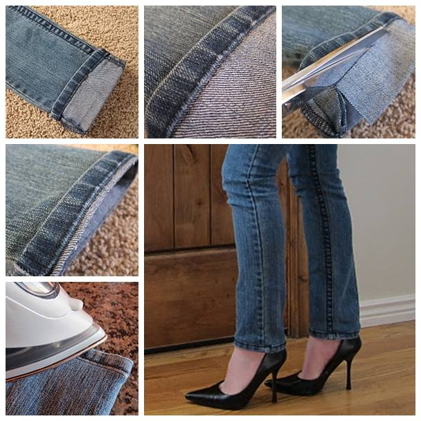 How to Hem Jeans Fast and Easy Tutorial (Video)