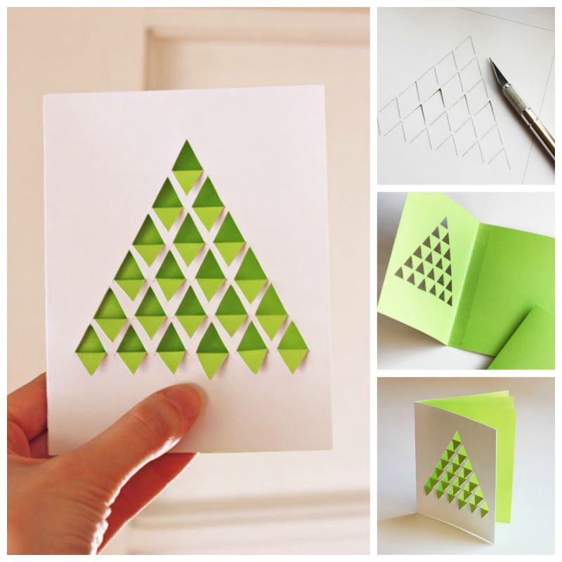 Geometric-DIY Christmas-Tree-Card