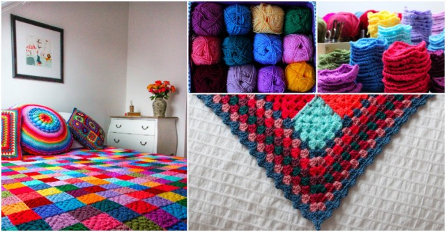 Granny Square Blanket Crochet Pattern Tutorial Beesdiy