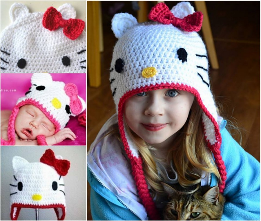 Hello-Kitty-Crochet-Hat-FREE-Pattern