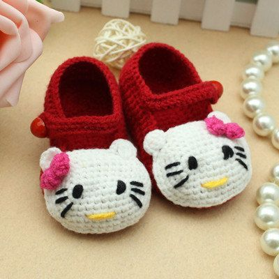 Hello Kitty Crochet Slippers3