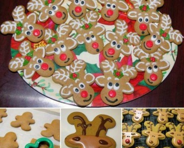 Holiday Gingerbread Reindeer Cookies Recipe