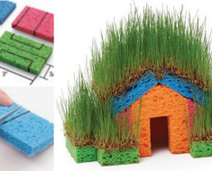 DIY Sponge Grass House -- Fun for Kids