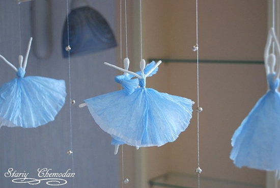 Adorable Tissue Paper Ballerina DIY Tutorial