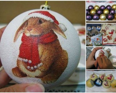How to Decoupage Bauble Ornament with Napkin (Video)