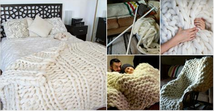 How To Knit Giant Blanket With Pvc Pipes Beesdiy Com